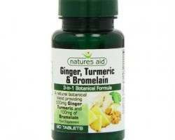 Ginger Turmeric and Bromelain Natures Aid Review