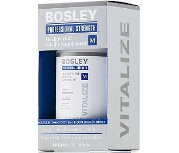 Bosley Professional Strength Healthy Hair Vitality Supplement for Men Review - For Hair Growth