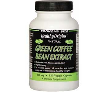 Healthy Origins Green Coffee Bean Extract Weight Loss Supplement Review