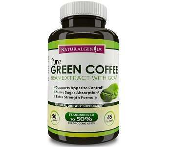 Natural Genius Pure Green Coffee Bean Extract With GCA Weight Loss Supplement Review