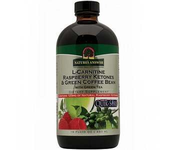 Nature's Answer L-Carnitine Raspberry Ketones & Green Coffee Bean Weight Loss Supplement Review