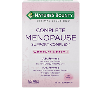 Nature's Bounty Complete Menopause Support Complex Review - For Relief From Menopause Symptoms