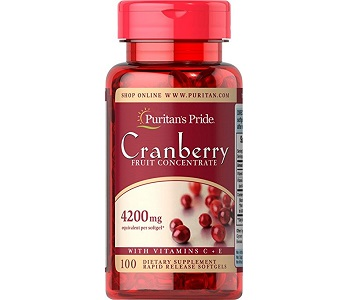 Puritan's Pride Cranberry Fruit Concentrate with C & E Review - For Relief From UTI's