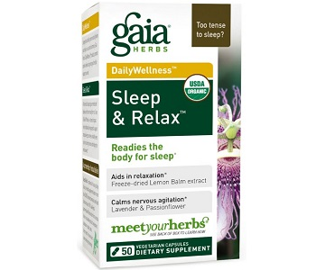 Gaia Herbs Sleep & Relax Review - For Relief From Anxiety And Tension