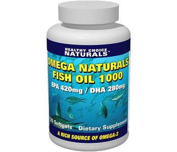 Healthy Choice Naturals Omega Naturals Fish Oil 1000 Review - For Cardiovascular Support