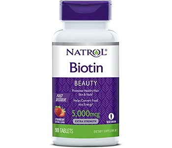 Natrol Biotin Beauty Review - For Hair Loss, Brittle Nails and Problematic Skin