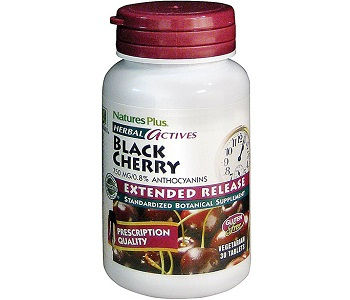 Natures Plus Herbal Actives Black Cherry Review - For Relief From Gout