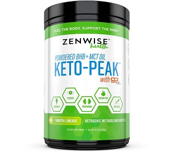 Zenwise Health Powdered BHB and MCT Keto-Peak Review - For Weight Loss