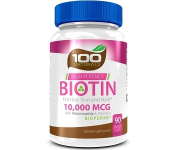 100 Naturals High Potency Biotin Review - For Hair Loss, Brittle Nails and Problematic Skin