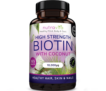 Nutravita High Strength Biotin Review - For Hair Loss, Brittle Nails and Problematic Skin