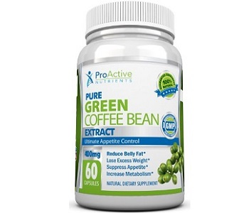 Proactive Nutrients Green Coffee Bean Weight Loss Supplement Review