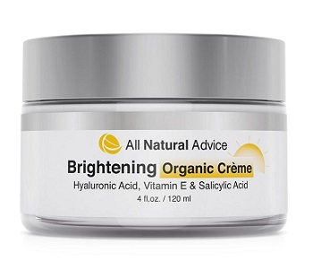 All Natural Advice Brightening Organic Crème Review - For Brighter and Healthier Looking Skin
