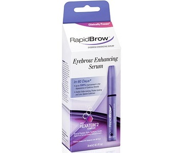 RapidBrow Eyebrow Enhancing Serum Review - For Fuller Longer Looking Lashes and Brows